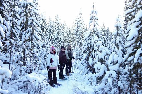 Snowshoeing Rummel Lake