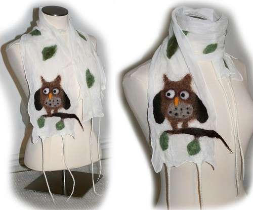 Owl Scarf - Finished