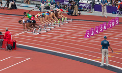 Photo of a false start in a race