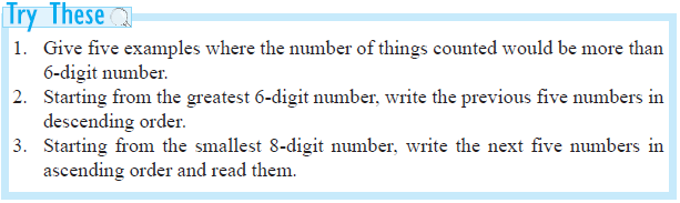 NCERT Class VI Mathematics Chapter 1 Knowing Our Numbers