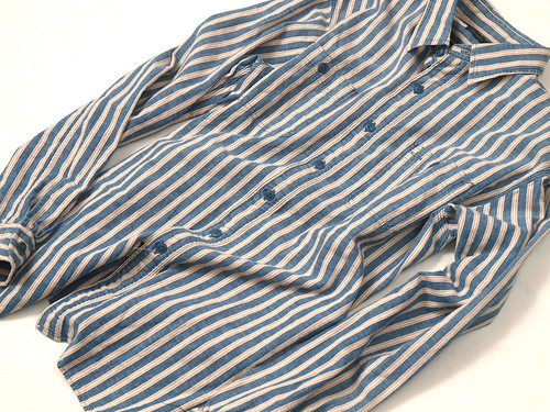 RRL / Chambray Stripe Work Shirt