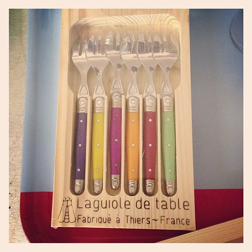I bought cake forks today... Yes, I felt I needed them! #laguiole