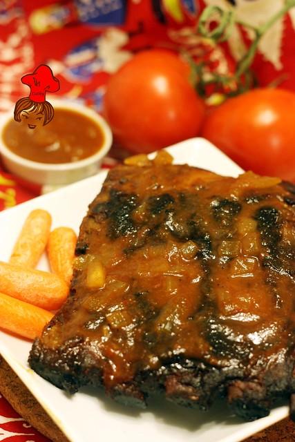 香烤豬肋排 Oven Grilled pork rib 1