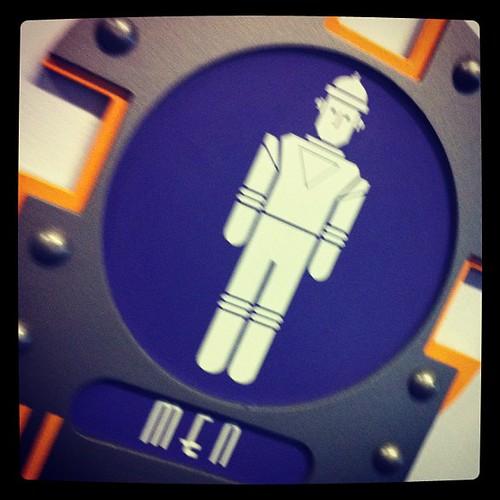 Robot men wee here