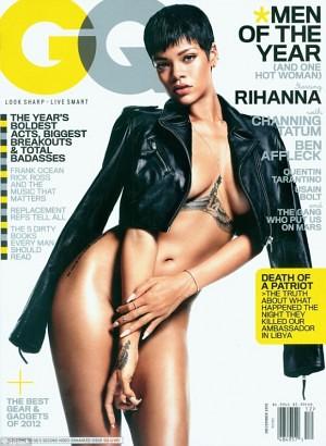 Rihanna Topless GQ