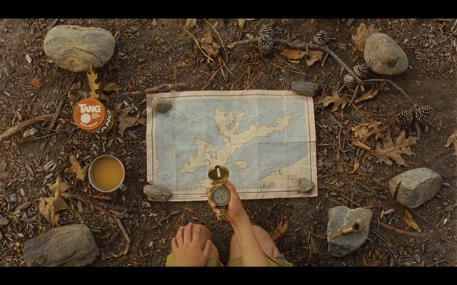 Tang, map, compass, pipe.