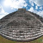 Fisheye View of El Castillo - Chichen Itza, Mexico
