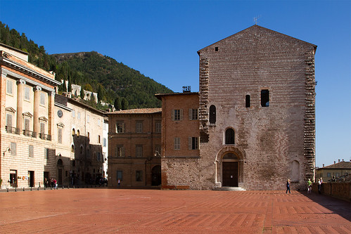 "Gubbio from the book ""Sui passi di Francesco"" by Diego Fontana"