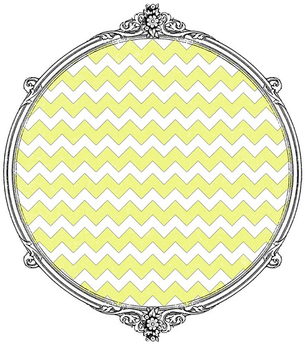 chartreuse chevron paper SAMPLE