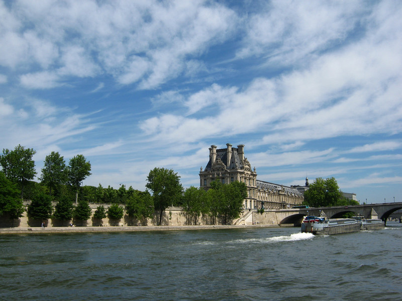 Paris in summer on the Seine