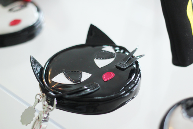 Lulu Guinness Cruise SS13 cat coin purse