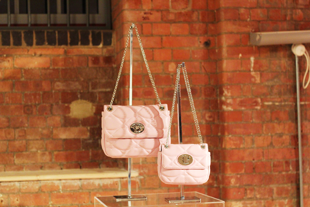 Lulu Guinness SS13 pink chain bags