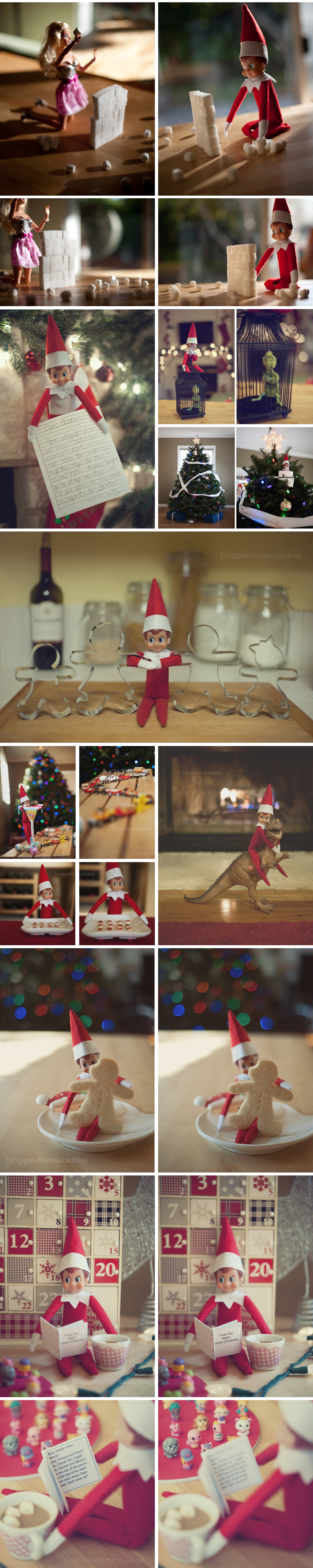 Elf on the Shelf, Collage 2
