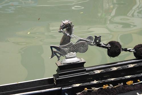 Gondola detail and reflection, Venice