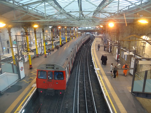 Farringdon Station With Tube train