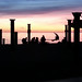 Small photo of Slack line at sunset