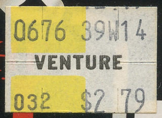 Venture Price Sticker