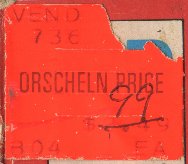 1974 Orscheln Price Sticker