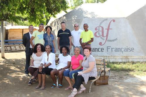 délégation de la Réunion lors de la visite à l'alliance française
