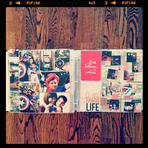 #projectlife week 46 full spread inserts left side