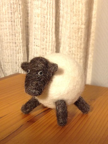 Needle felted sheep!