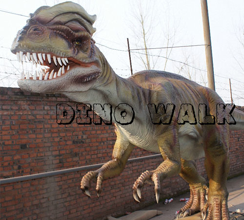 Customized Animatronic Dinosaur in Halloween