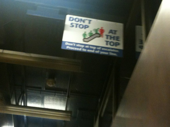 how to turn on light on iphone don t stop at the top escalator sign flickr photo 20418