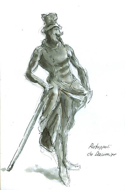 Ratappoli, escultura de Daumier