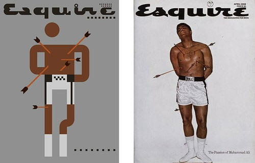 Side by side - Iconic Cover #1 - The Passion of Muhammad Ali, Esquire 1968 by omarrr