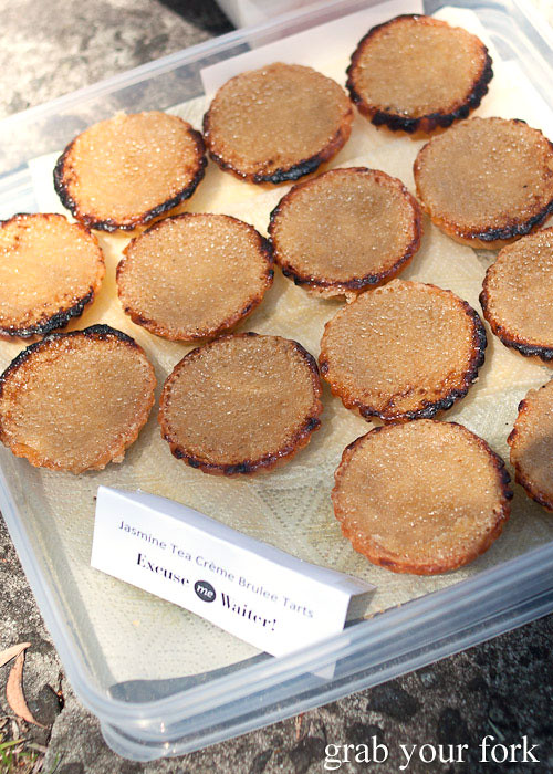 jasmine tea creme brulee tarts at sydney food blogger christmas picnic 2012