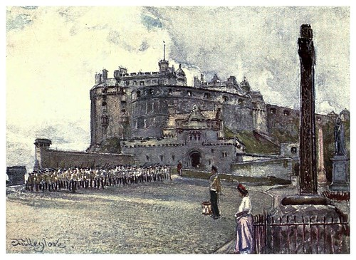 002-Castillo de Edimburgo desde la explanada-Edinburgh, painted by John Fulleylove- 1904