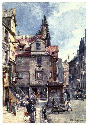 005-John Knok's house en Hig steet-Edinburgh, painted by John Fulleylove- 1904
