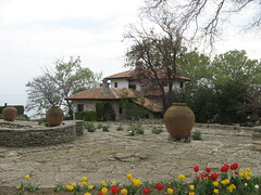 Villa seen from the garden in Balchik, Bulgaria
