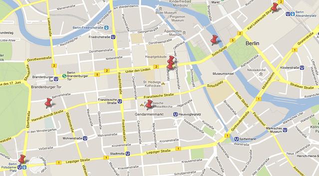 Mapa Roteiro Berlim