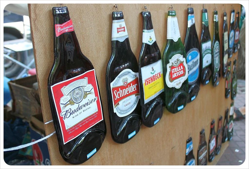 san telmo sunday market flat bottles