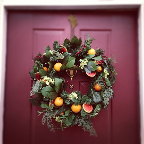 Our front door, Holiday version. by cocopuff1212
