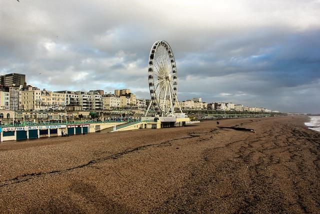 La costa de Brighton