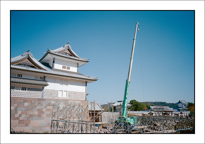 金沢城, 建設中(?) / Kanazawa castle Under construction (?)
