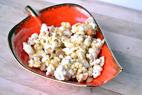 butterscotch peanut granulated sugar caramel corn made in microwave