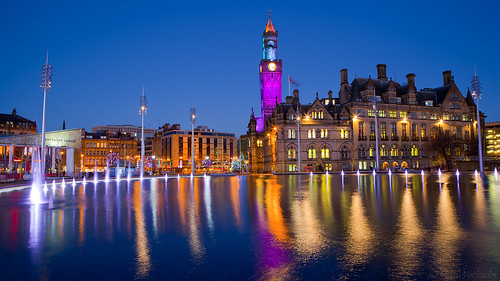 park city lake tower clock water fountain night canon eos hall is long exposure bradford shot centre ef 24105l 5dmk2
