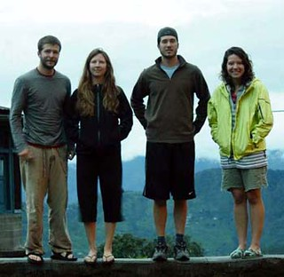 (Left to right) Ryan Hines, Tiana White, Blake Hines, and Brooke Hines pose in Raniket, India.