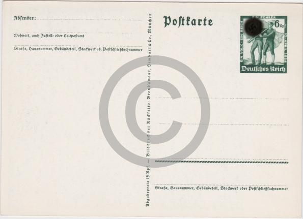 Pohľadnica Prapaganda Nemecká ríša 13.3.1938