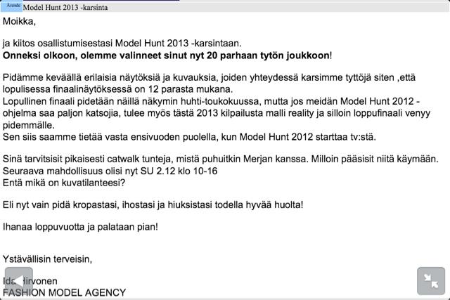 model hunt