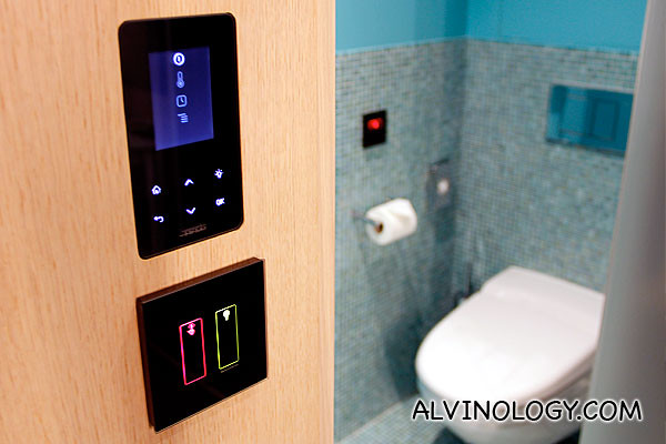 Love this - digital touchscreen sauna and bath settings