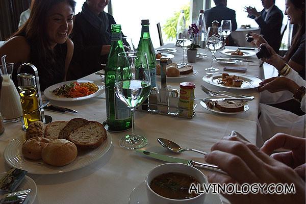 All settled for lunch in the Nestle staff restaurant