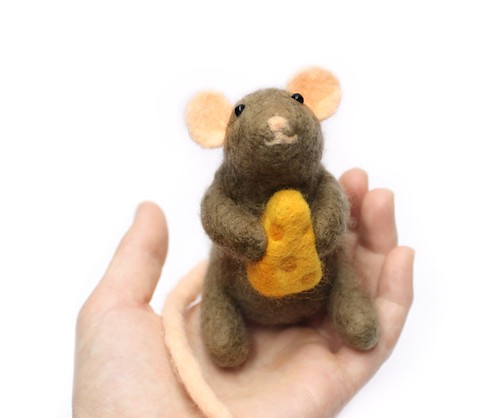 Needle Felt Wool Mouse