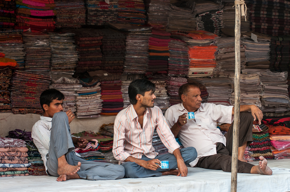 Fabric shop in Pushkar