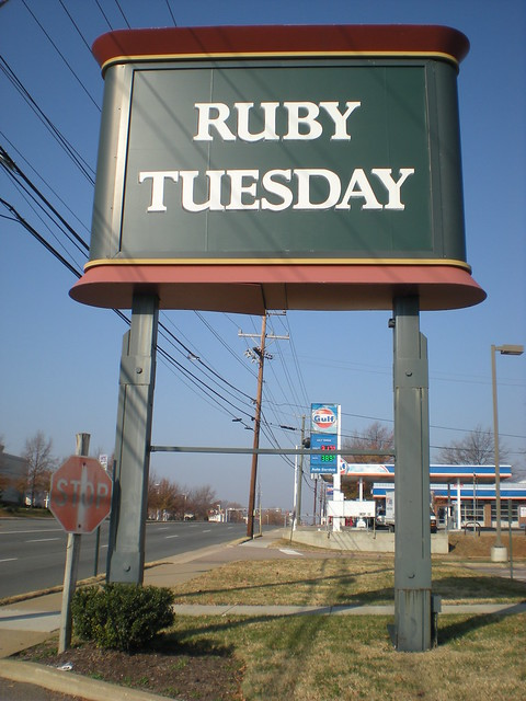Ruby Tuesday Sign Flickr Photo Sharing