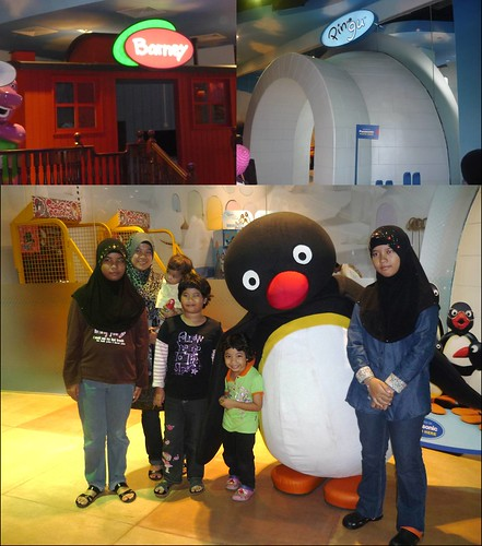 Barney and Pingu playhouse