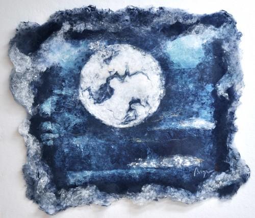 """Ocean Moon, 30x34 """""""